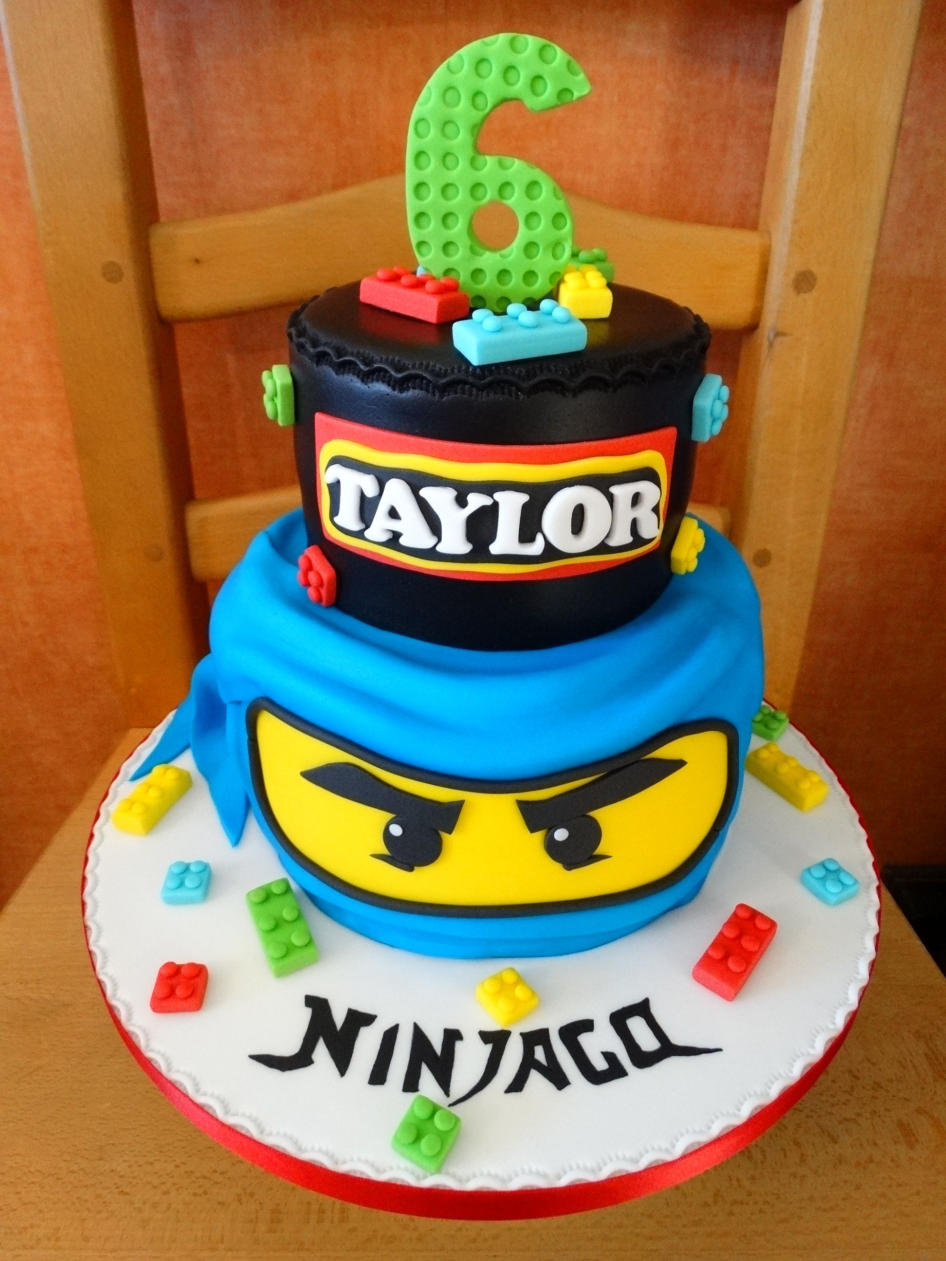 Admirable Blue Ninjago Cake Xmcx With Images Ninjago Cakes Ninjago Funny Birthday Cards Online Inifofree Goldxyz