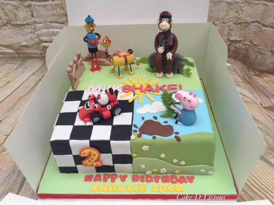 Peachy Cbeebies Milkshake Characters By Cake D Licious 3Rd Birthday Cakes Funny Birthday Cards Online Hetedamsfinfo
