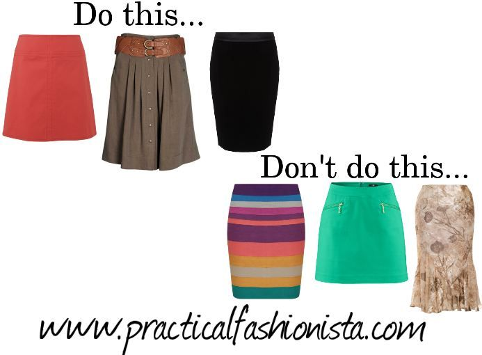 SKIRTS Do A-Line styles cut close to the body, soft flowy styles ...