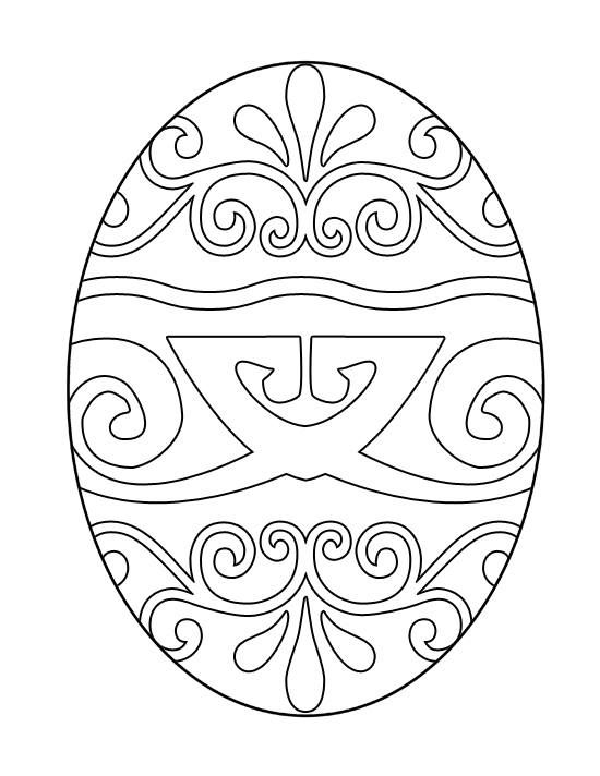 Printable Easter Egg Coloring Image Free (7 Different Images ...