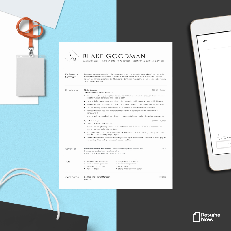 Resume templates can help you stand out from the crowd