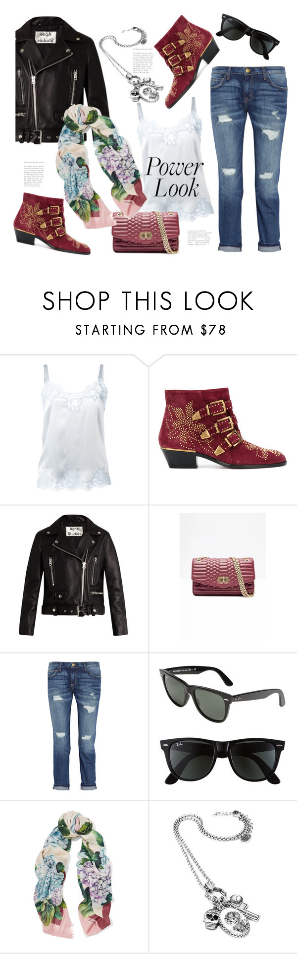 """""""Girl Power!"""" by badassbabyboomer ❤ liked on Polyvore featuring Dolce&Gabbana, Chloé, Acne Studios, Current/Elliott, Ray-Ban and MyPowerLook"""