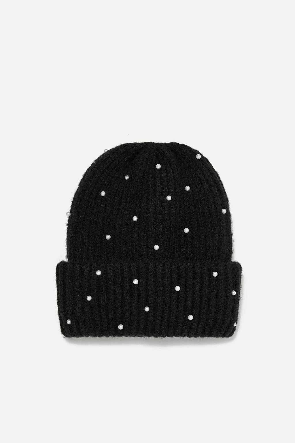 Image 1 Of Oversized Hat With Faux Pearls From Zara Wool Blend Socks Warm Winter Hats Oversized Hat
