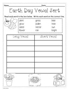 Earth Day Printables Grades 1 2 Earth Day Activities Earth Day