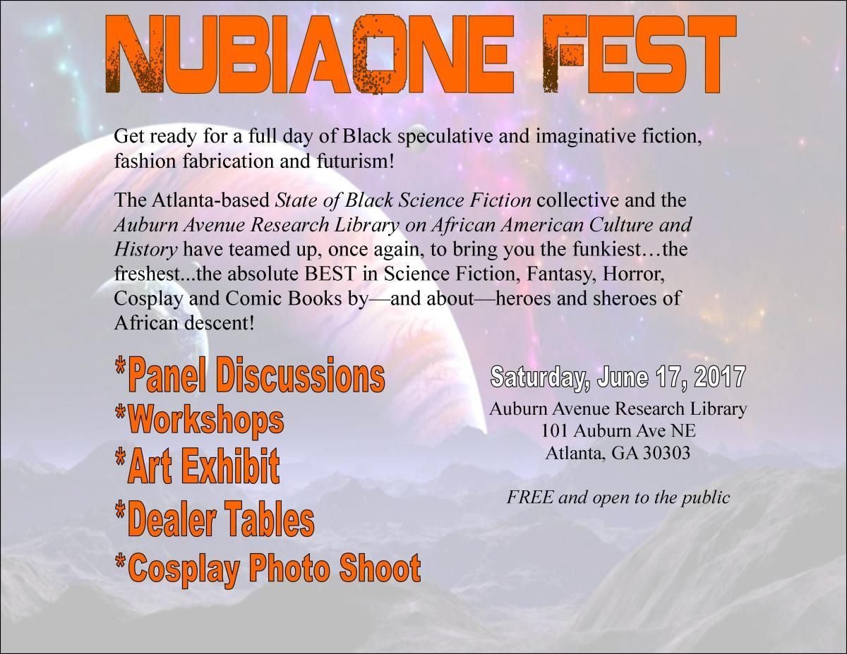 NubiaOne Fest rises this summer as Blacktasticon (SOBSFCon) satellite!