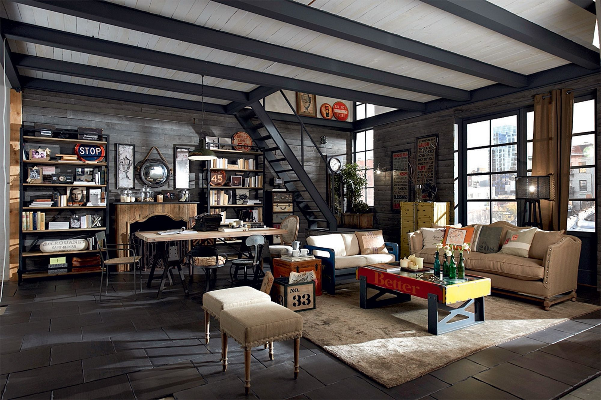 Country, vintage, industrial, loft, urban, shabby chic