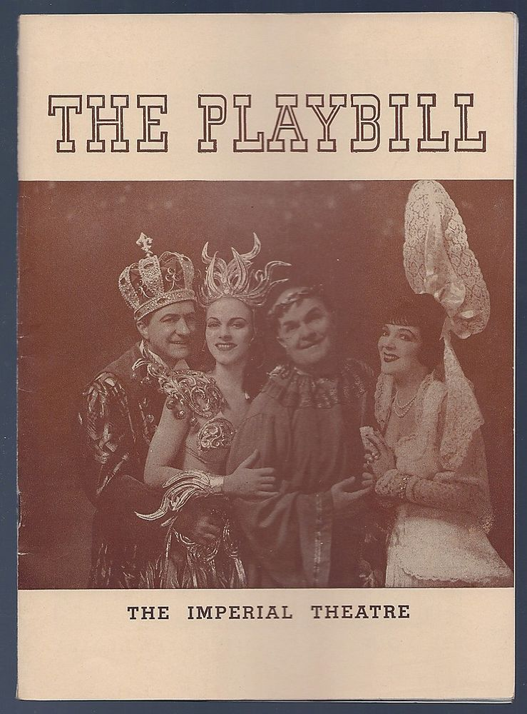 1941 The Playbill booklet The Imperial Theatre actors and advertising