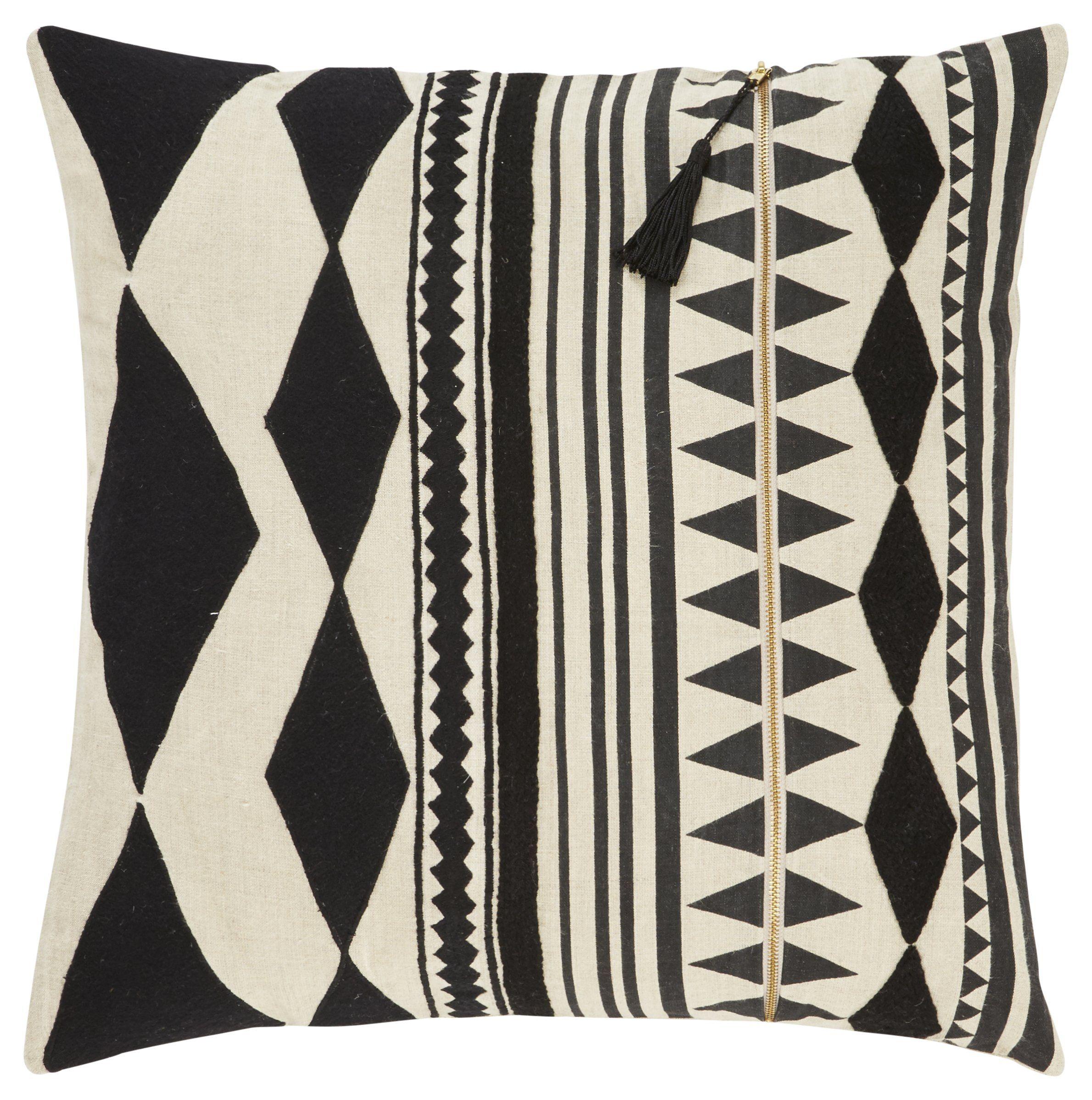 Jaipur living cosmic by nikki chu cnk18 black modern contemporary pillow