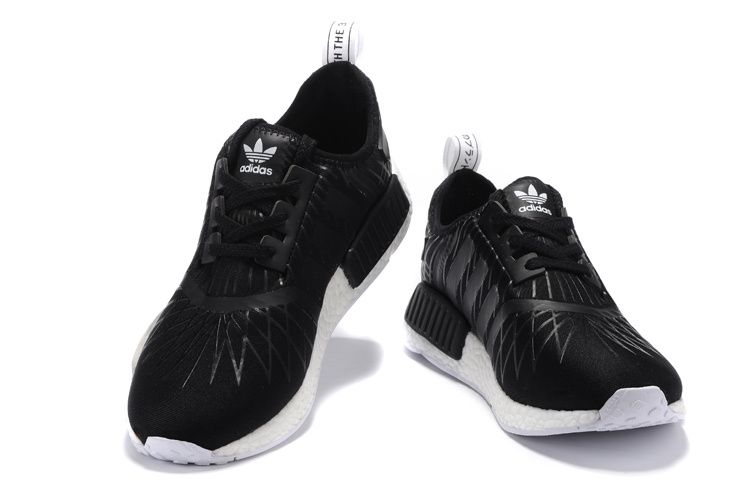 super popular 32248 cf8cb NMD R1 PK BLACK WHITE GREY Men-Women