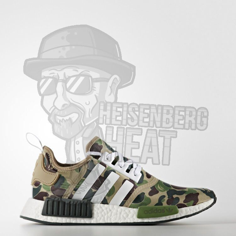 7ae2a4a5f Bape has linked up with adidas Originals for what could be one of the most  hyped releases this year. The BAPE x adidas NMD features a camo Primeknit  upper.