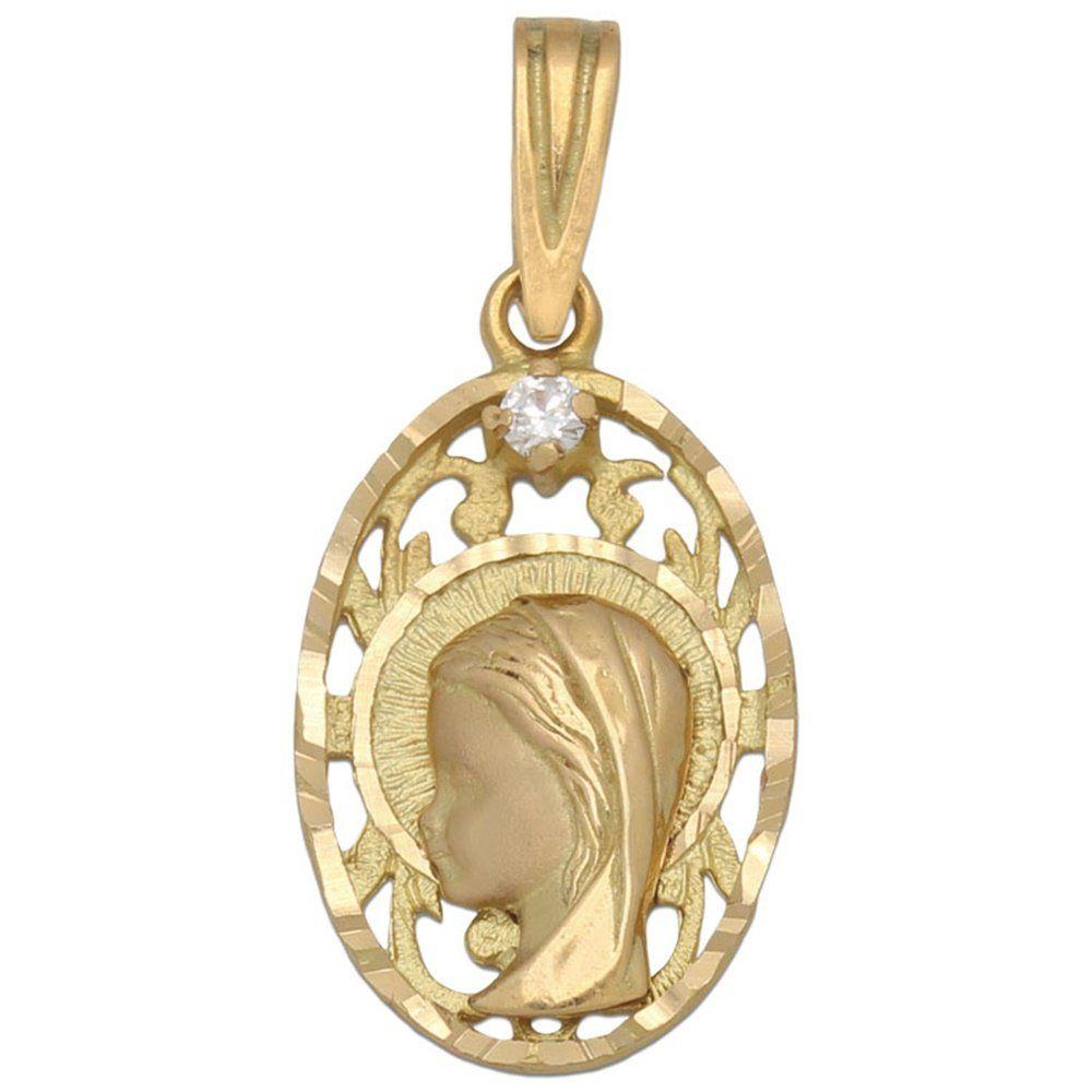 #Medalla en Oro 18 Kl. Virgen Niña 13 x 21 Mm. Aquí te ofrecemos una bonita Medalla realizada en Oro de 18 Kl. con forma ovalada, lleva la imagen de la Virgen Niña calada y con Circonitas. Un original diseño perfecto para hacer un regalo a una niña de Primera Comunión.  El plazo de entrega es de 3 días laborables.   ¡Decídete ahora y podrás tener esta especial Medalla para Comunión Virgen Niña en Oro de 18 Kl. con Circontia!  Medidas: 13 x 21 Mm.  No incluye cadena.