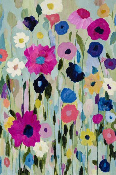 Wild Flowers Carrie Schmitt Design Flower Canvas Art Flower Canvas Canvas Art Wall Decor