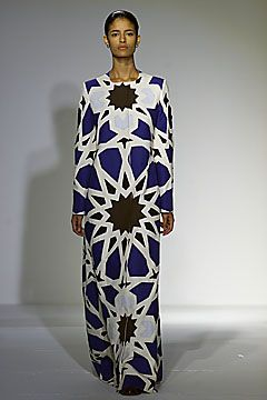 From Miguel Adrover's heavily Islamic design-influenced Spring 2002 collection.  At the time I thought it was one of the most beautiful collections I'd ever seen.