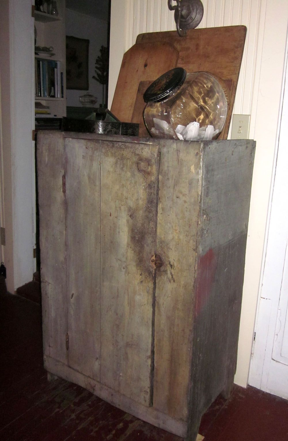 Primitive cupboard with great knob
