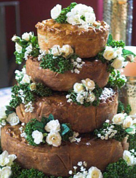M S Pork Pie Wedding Cake