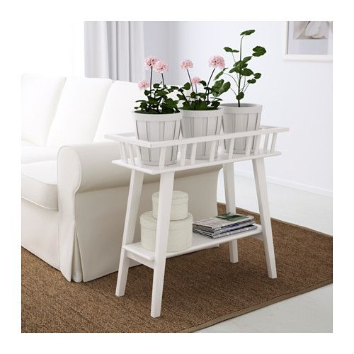 LANTLIV Blumenständer, weiß Neue wohnung, Wohnzimmer inspiration - ikea wohnzimmer wei