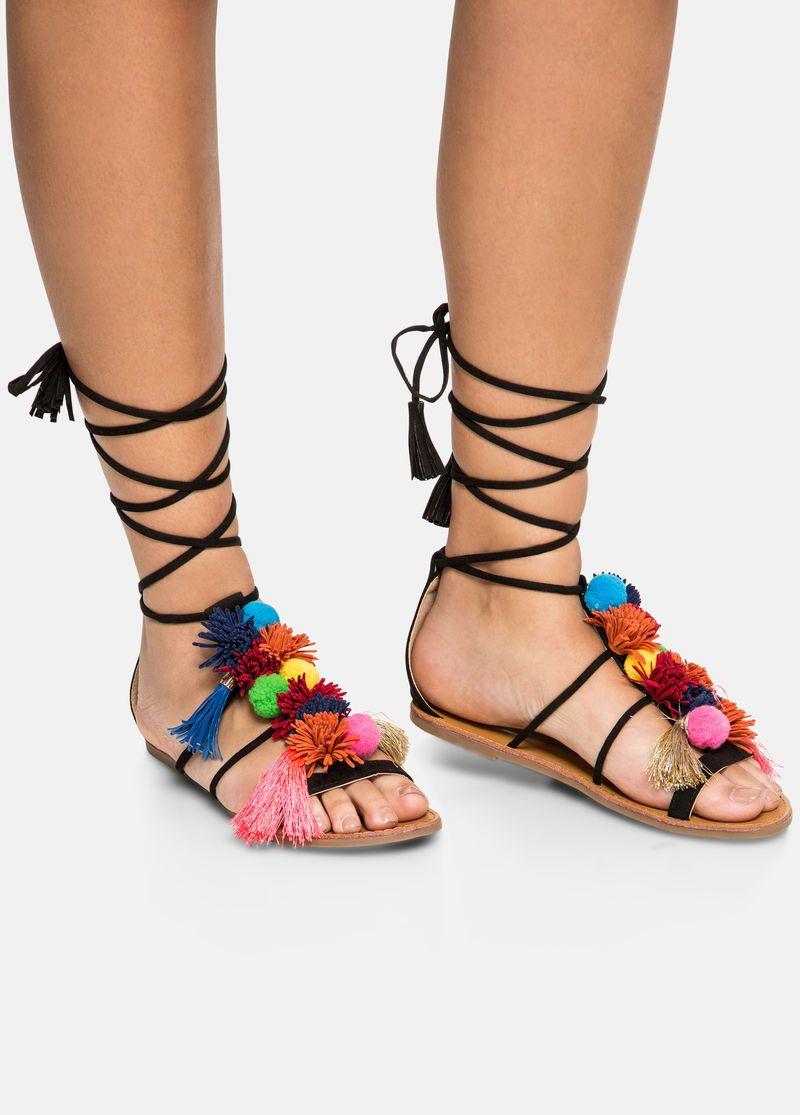 88593288a239 Pom Tassel Sandal - Wide Width Pom Tassel Sandal - Wide Width