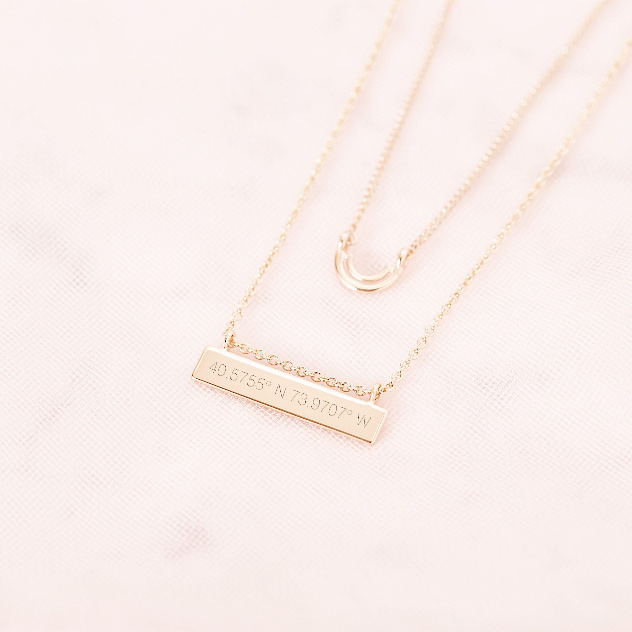 Brook /& York Petite Date Bar Necklace