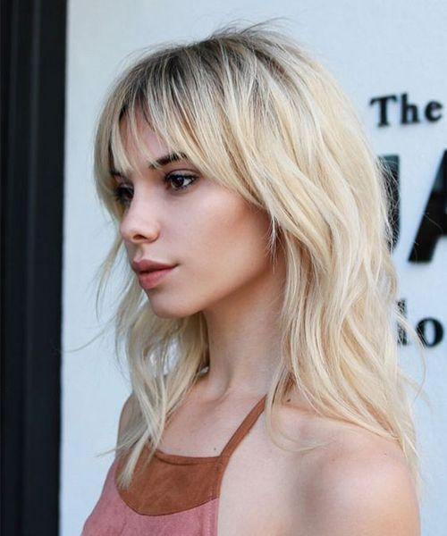 Hair Styles With Bangs Alluring Marvelous Full Fringe Medium Hairstyles 2018 For Teenage Girls