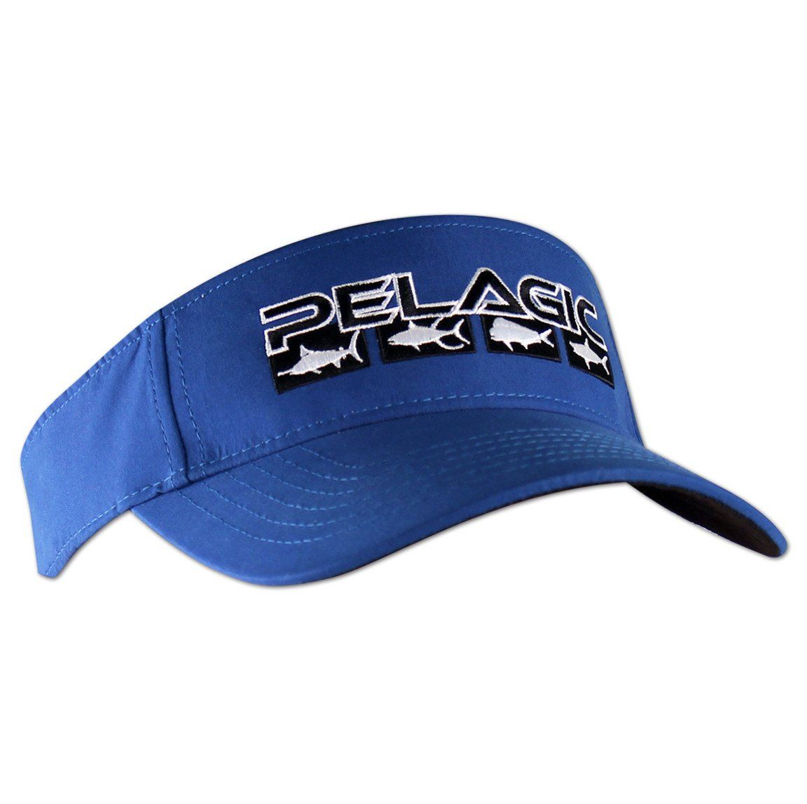 957ada7d80b Gone Fishing. Pelagic - Fish Flag Visor-Royal Visor Hats