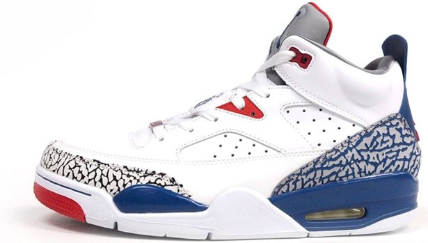 purchase cheap 72cb0 7a5df Jordan Son Of Mars Low White True Blue-Gym Red-Cement Grey