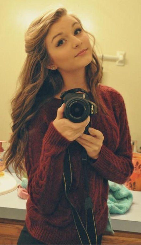 cute teen selfie