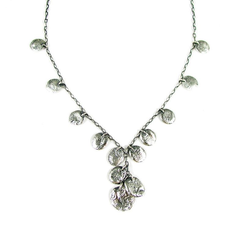 sterling silver coin cluster necklace - Esma Studios Jewelry