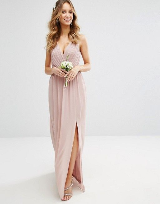 91e4f0a9c TFNC WEDDING Pleated Maxi Dress With Back Detail ASOS | Style that ...