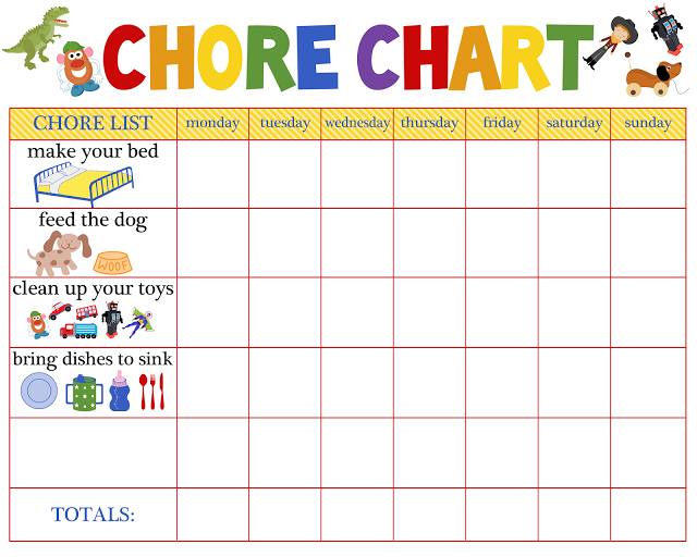 image about Printable Chore Charts for Multiple Children titled chore charts for several kids Chore Chart - The Paro