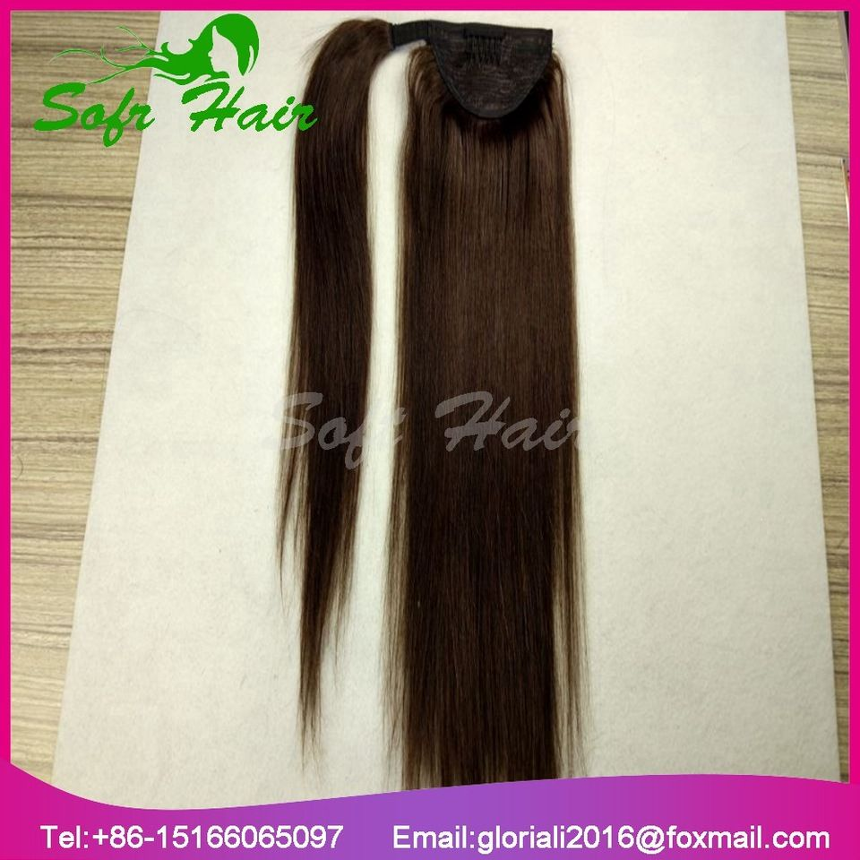Ponytails Bhf Straight Ponytail Human Hair All Colors European Remy Human Hair Ponytail Extensions Tail Of Human Hair Natural Ponytails A Great Variety Of Goods