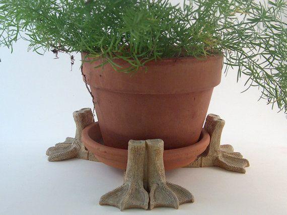 Vintage Pot Feet Plant Risers Webbed Feet By Annaleesattic On Etsy Plants Vintage Planters