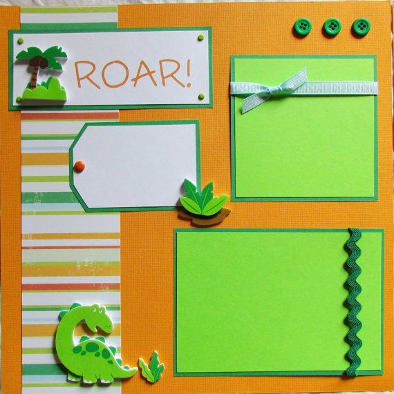 EZ Layout 601 Premade Scrapbook Pages DINOSAURS
