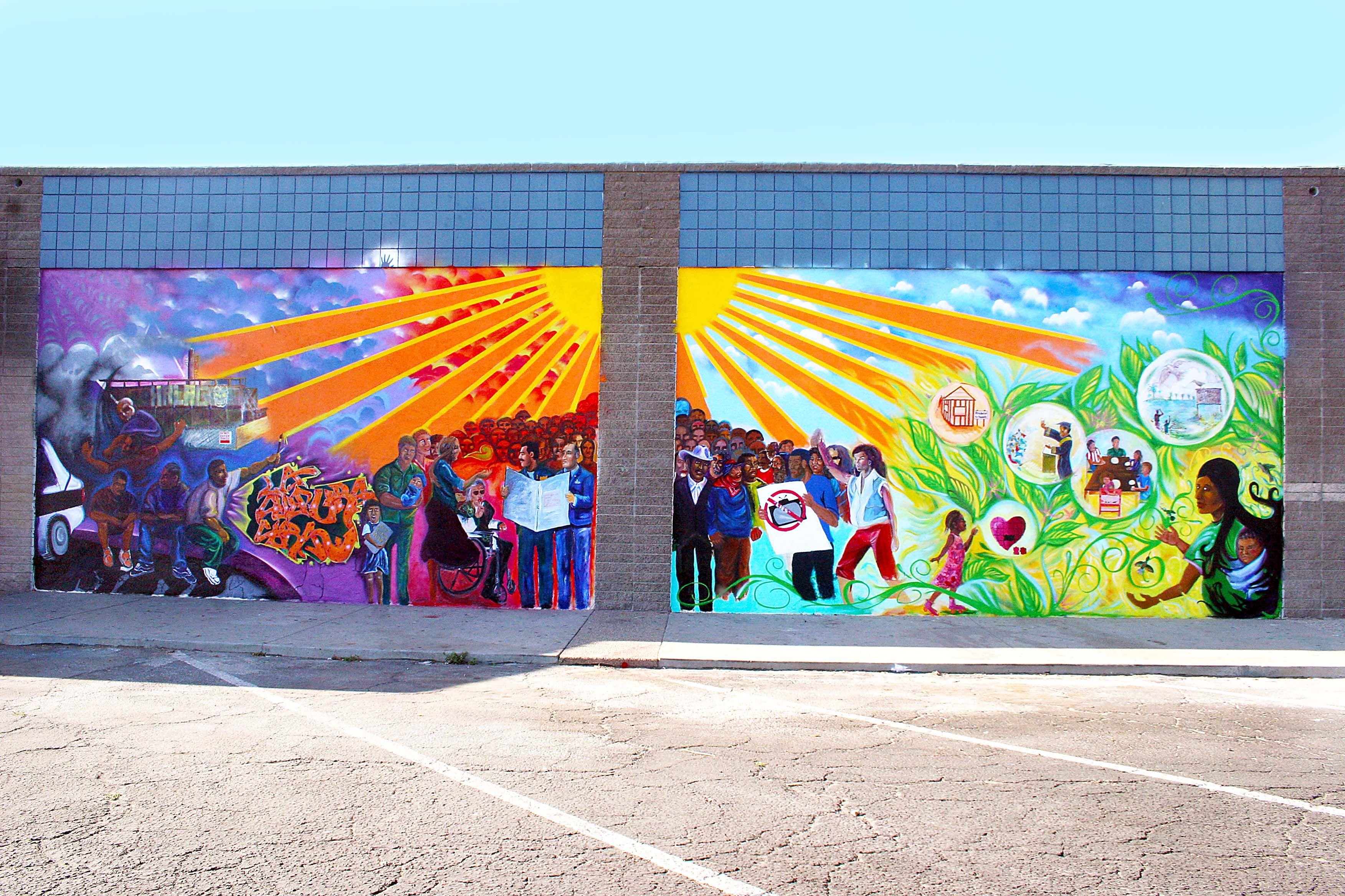Paint Not Prison Mural In South Oxnard Murals Street Art Mural School Murals