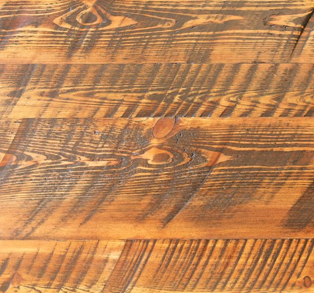Reclaimed Pine Hardwood Flooring Circle Sawn Also Available With Custom Stains