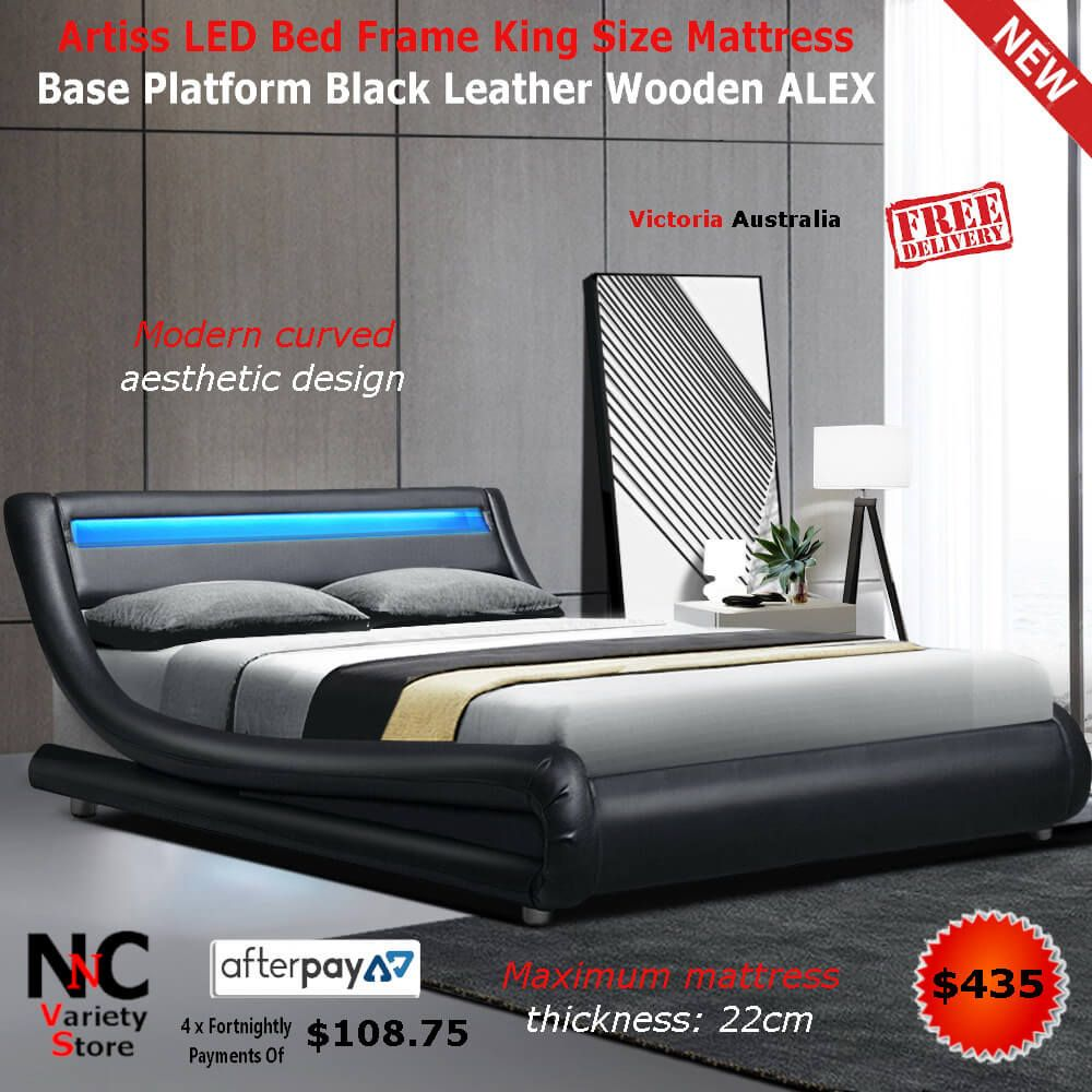 Features Led Light Headboard Premium PU leather