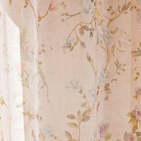 Cortina lino primaveral zara cortinas y camas for Cortinas espana