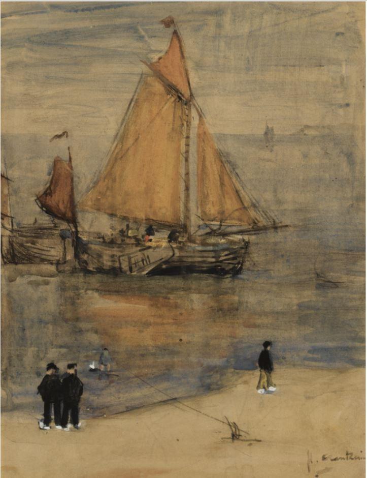 The Return Of The Fishing Boats Floris Arntzenius Watercolor