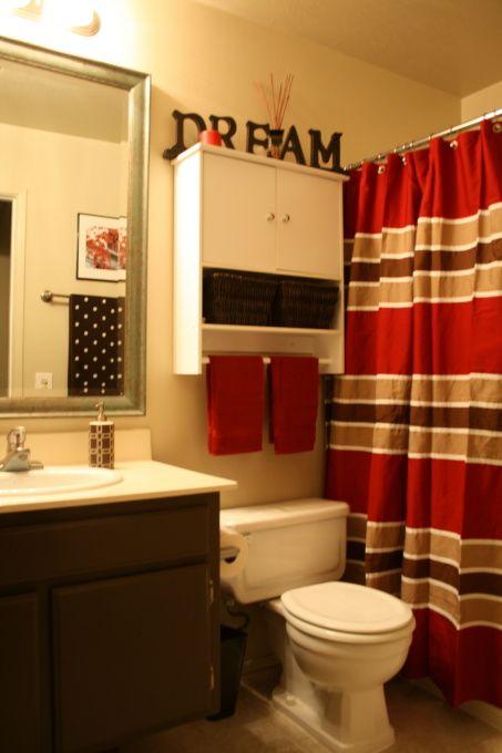 Easy Diy Bath Brown Bathroom Decor Bathroom Red Red Bathroom Decor