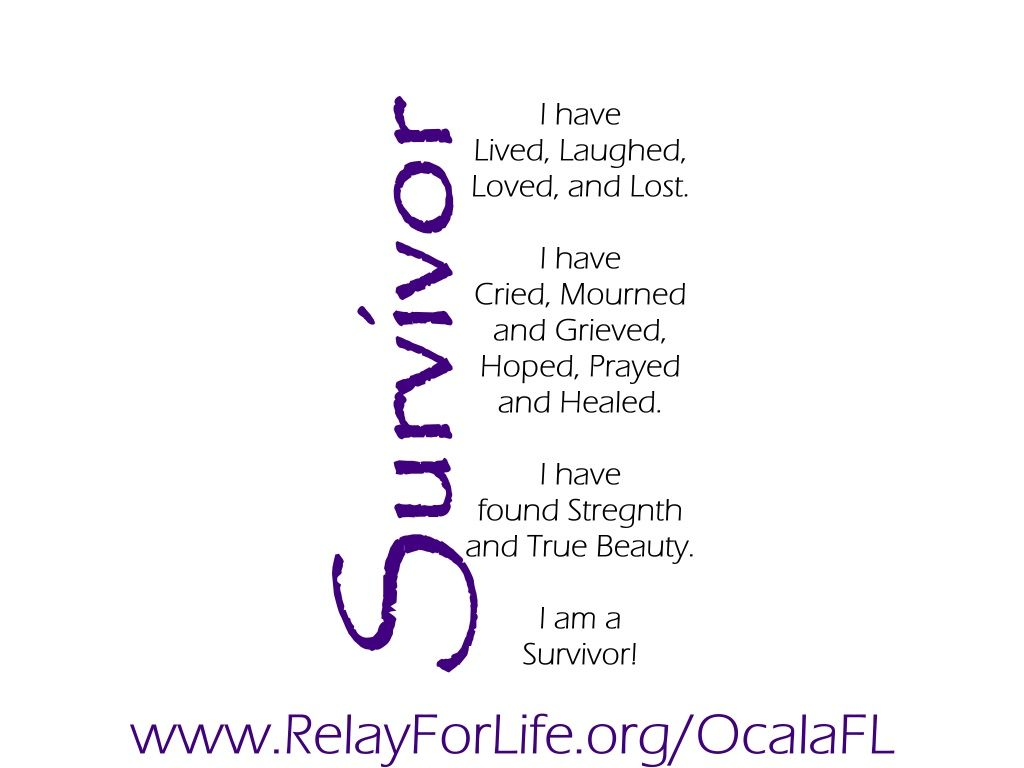 Relay For Life Quotes Survivor This Would Be Cute To Print Out On Little Cards