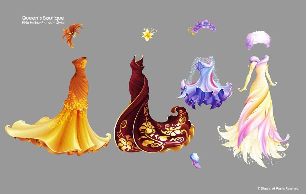 Artist Eric Reimer: Pixie Hollow dresses in vector