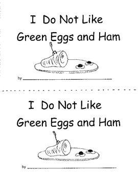 Green Eggs Response Book Use With Seuss Reproducible