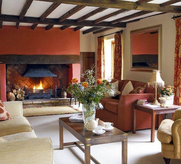 Interiores con techos de madera dise o y decoraci n del for Ranch house con cantina