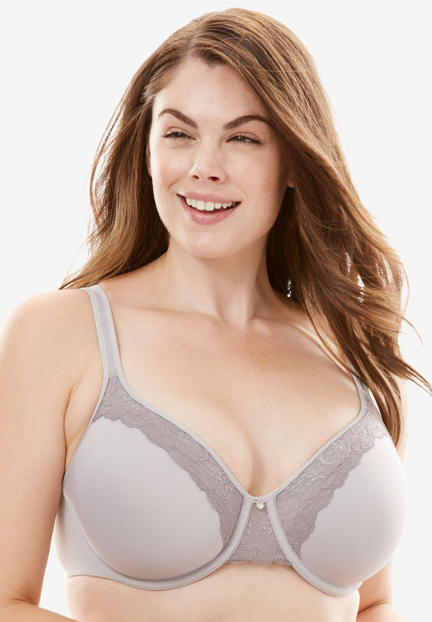 5d4ed758155e1 Bali One Smooth U Lace Lift Underwire Bra - Women s Plus Size Clothing