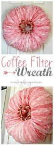 DIY Coffee Filter Wreath for Valentine's Day   missfrugalfancypants.com