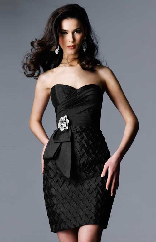Photo of Little black dress short homecoming dress style 1404
