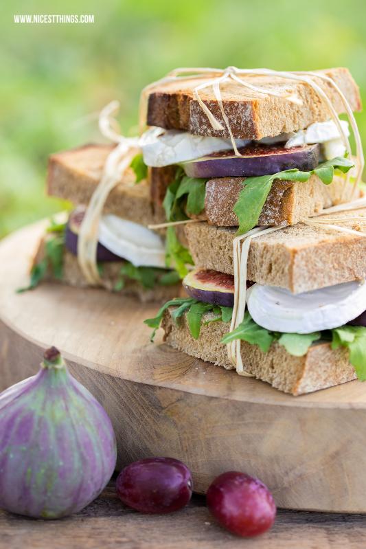 herbst picknick rezepte ziegenk se feigen sandwiches zum herbstpicknick. Black Bedroom Furniture Sets. Home Design Ideas