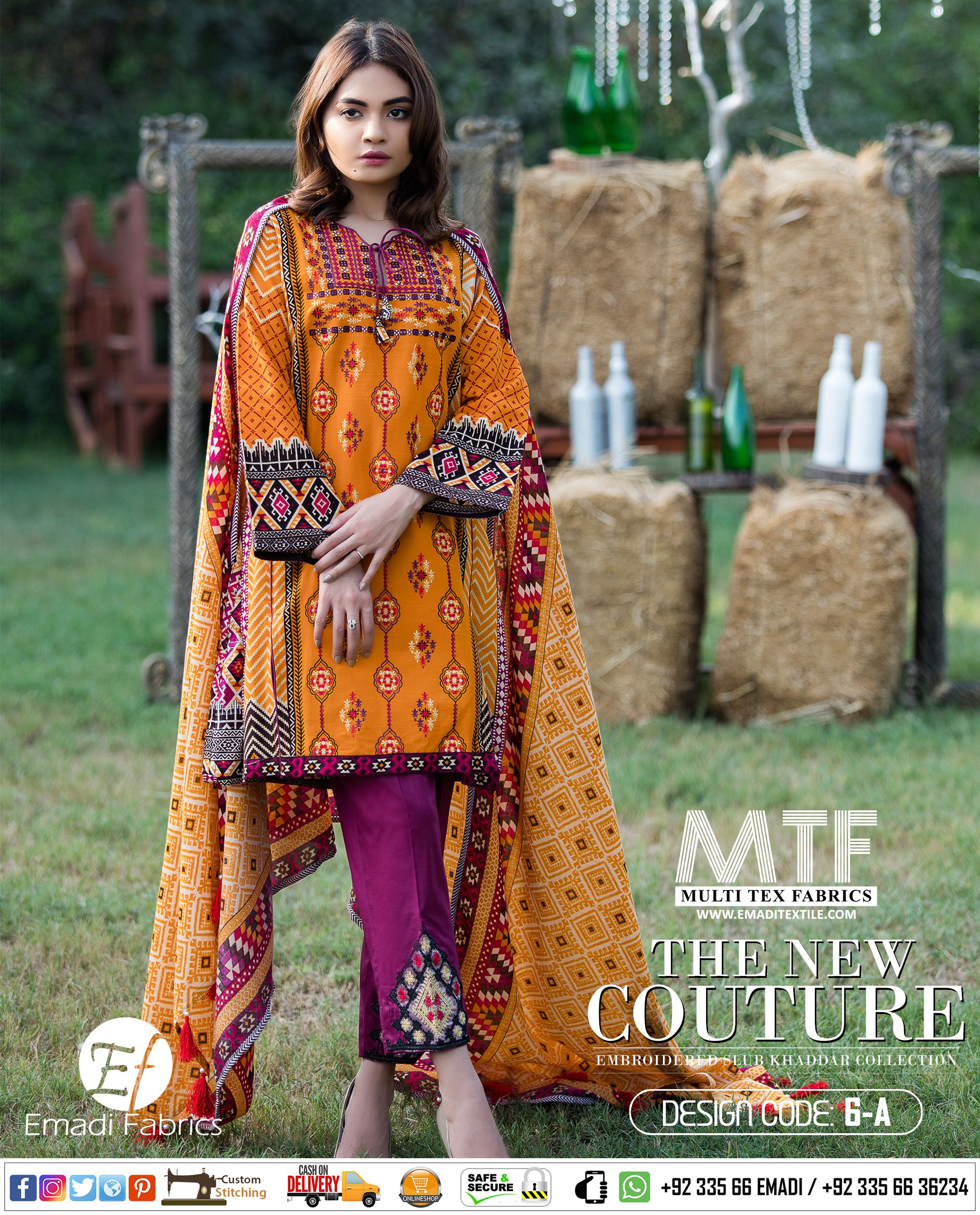 18cbaeae00 MTF - THE NEW COUTURE | EMBROIDERED SLUB KHADDAR COLLECTION. Price Rs.  1,995/