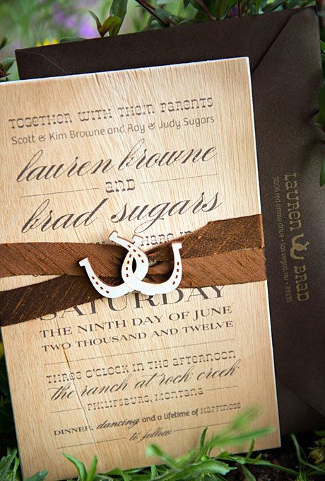 Real Weddings Cowboy Wedding Invitations Western Wedding Invitations Wedding Invitations Rustic