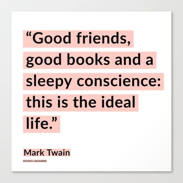 55 | Mark Twain Quotes 200908 Motivational Inspirational Inspiring Motivating Canvas Print by Wordz