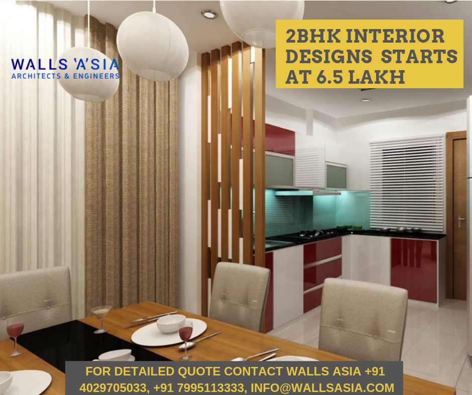 2bhk Interior Designs In Hyderabad Begins From 6 5 Lakh Offered By